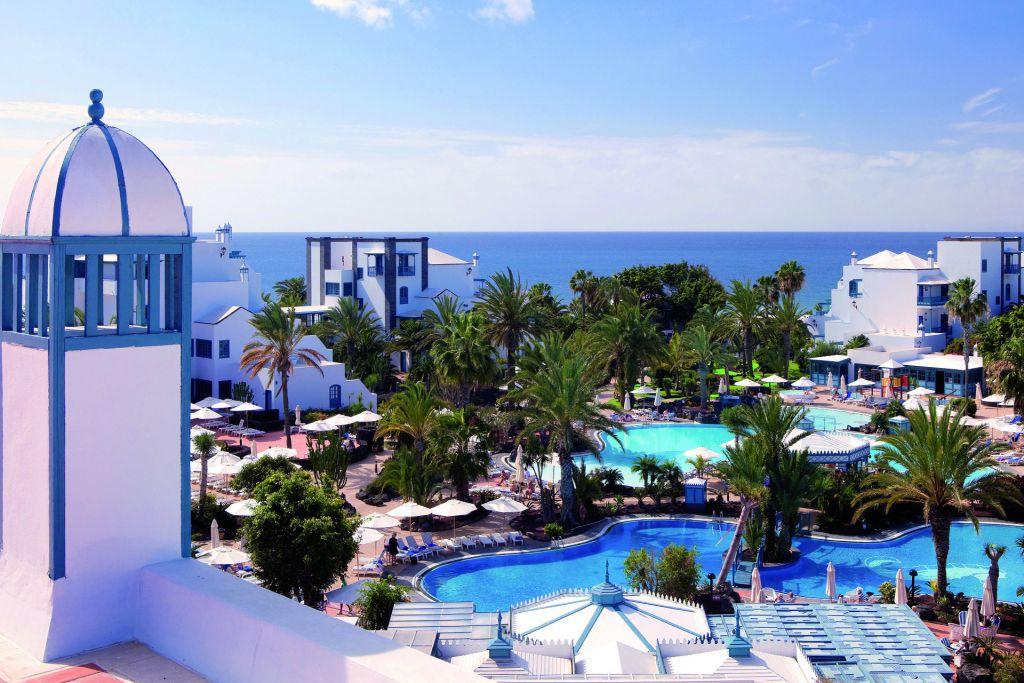 Swimming Pools and sunbathing terraces of Seaside Los Jameos Playa in Puerto del Carmen, Lanzarote